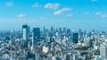 8K・東京風景・タイムラプス・恵比寿から望む・渋谷・新宿・青山・代々木・広尾・ズームアウト 45722624