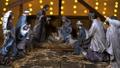 Jesus Christ birth in stable Christmas scene 45729676