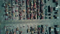 Modern seaport container terminal, aerial top down view 45760872