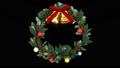 クリスマスリース_定点_透明背景 45799556