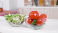 Vegetables on a table in front of the kitchen 45814921