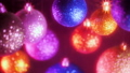 Retro style footage. Shiny sparkle glass balls - decorations for New Year and Christmas tree 45815716