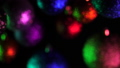 Blur view of Christmas baubles and New year decoration - tree colorful balls spinning on dark 45815718