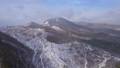 Aerial video of winter panorama in mountains 45817291