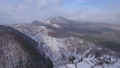 Aerial video of winter panorama in mountains 45817292