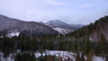 Aerial footage of winter season in the mountains 45817355