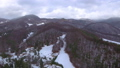 Aerial footage of winter season in the mountains 45817356