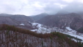 Aerial footage of winter season in the mountains 45817357