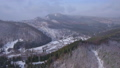 Aerial footage of winter season in the mountains 45817358