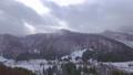 Aerial footage of village in winter 45817450