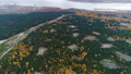 upper view wild forest with ashes and highway at quiet lake 45844233