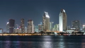 Night view of the downtown building group from San Diego Coronado 45869625