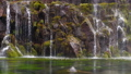 Close up view of waterfall Slow Motion 100fps Loop 45873627
