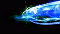 横切りながら手前に迫る光 スクリーン合成用光エフェクト 青 45902266