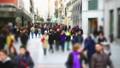 People on streets of Madrid. Slow motion.  45908426