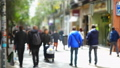 Movement of people along Fuencarral street. Madrid 45908427