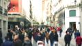 People on streets of Madrid, Spain. Slow motion.  45908428