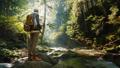 女性 ハイカー ハイキングの動画 45910729