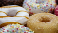 assorted donuts with different fillings and icing 45929831