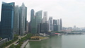 Central Area of Singapore with skyscrapers on the riverside. Shot. Singapore landscape and business 45947054