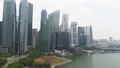 Central Area of Singapore with skyscrapers on the riverside. Shot. Singapore landscape and business 45947055