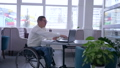 online shopping, invalid spectacles in wheelchair with credit card makes payment in Internet using 46011624