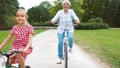 grandmother, granddaughter, cycling 46063907