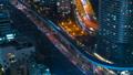 东京,交通,时间推移,各种交通是平行的,高速公路,铁路,大城市的繁忙,泛 46066392