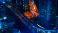 东京,交通,延时,各种运输是平行的,高速公路,铁路,大城市的喧嚣,颜色分级 46066396