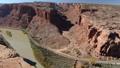 Aerial video of Grand Canyon upstream Colorado River Utah 46093276