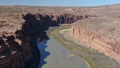 Aerial video of Grand Canyon upstream Colorado River Utah 46093278