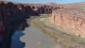 Aerial video of Grand Canyon upstream Colorado River Utah 46093279