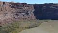 Aerial video of Grand Canyon upstream Colorado River Utah 46093281