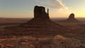 Aerial view of the western part of the sunrise of the monument valley 46093834