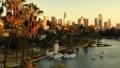 洛杉矶摩天大楼视图的空中图象从Ecopark 46093922
