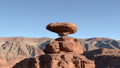 Aerial footage of the southwestern United States The rock formations and wilderness landscapes of the Mexican Hat 46105691