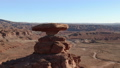 Aerial footage of the southwestern United States The rock formations and wilderness landscapes of the Mexican Hat 46105694