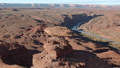 Aerial image of the southwestern United States The rock formations of the Mexican Hat and the San Juan River 46105696