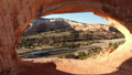 Aerial image of the southwestern part of the United States Wilson Arch Rock through the Arch of the Big Rock Utah 46105719