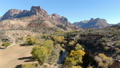 Aerial image of Zion National Park Great Canyon and autumn leaves 46105723