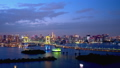 Timelapse-sunny cityscape of Tokyo changing from afternoon to night Pan left to right 46355355