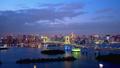 Timelapse-sunny Tokyo city landscape with a change from fine afternoon to night Pan Right to left 46355356