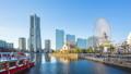 Yokohama city skyline time lapse in Yokohama 46365109