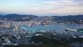 Nagasaki city skyline day to night time lapse 46365111