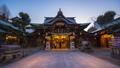 Fukuoka, Japan time lapse of Kushida shrine 46365113