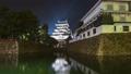 Kokura castle at night in Kitakyushu, Japan 46365116