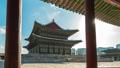 Seoul, Korea time lapse of Gyeongbokgung Palace 46365119