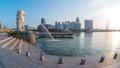 Singapore Merlion with landmark buildings 46365125