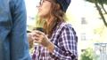 夫婦在公園裡喝咖啡 46365963