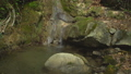 Small waterfall in green tropical forest with boulders and moss in the jungle natural mountain park 46381888